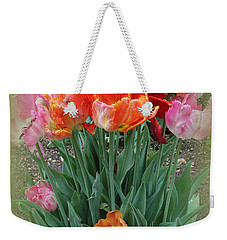 Bouquet Of Colorful Tulips Weekender Tote Bag