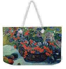 Bouquet Of Flowers Weekender Tote Bag by Paul Gauguin