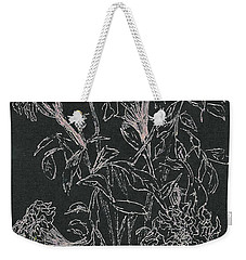 Weekender Tote Bag featuring the painting Bouquet Of Flowers  by Vicki  Housel
