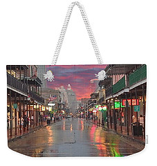 Bourbon Street At Night Weekender Tote Bag