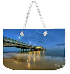 Bournemouth Pier Blue Hour Weekender Tote Bag by Yhun Suarez