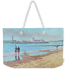 Bournemouth Pier Late Summer Morning Weekender Tote Bag