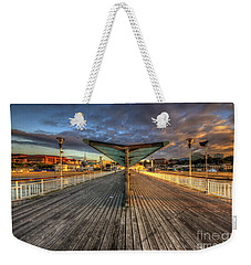 Weekender Tote Bag featuring the photograph Bournemouth Pier Sunrise 2.0 by Yhun Suarez