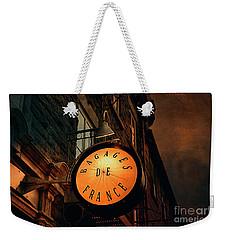 Boutique Sign - Quebec City Weekender Tote Bag