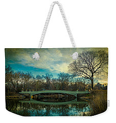 Weekender Tote Bag featuring the photograph Bow Bridge Reflection by Chris Lord