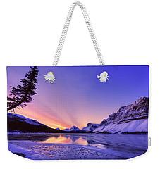 Bow Lake And Pine Weekender Tote Bag