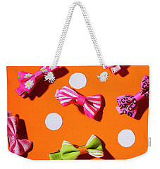 Weekender Tote Bag featuring the photograph Bow Tie Party by Jorgo Photography - Wall Art Gallery