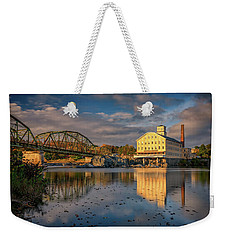 Weekender Tote Bag featuring the photograph Bowdoin Mill by Rick Berk