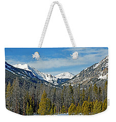 Bowen Mountain In Winter Weekender Tote Bag