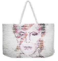 Bowie Typo Weekender Tote Bag