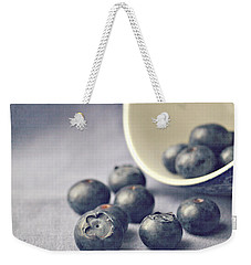 Weekender Tote Bag featuring the photograph Bowl Of Blueberries by Lyn Randle