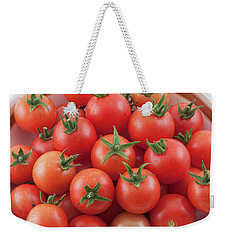 Weekender Tote Bag featuring the photograph Bowl Of Cherry Tomatoes by James BO Insogna