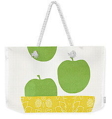 Bowl Of Green Apples- Art By Linda Woods Weekender Tote Bag