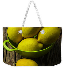 Bowl Of Lemons Weekender Tote Bag by Garry Gay