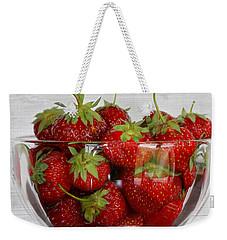 Bowl Of Strawberries Weekender Tote Bag