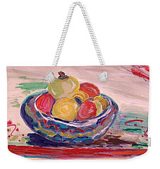 Bowl On A Red Edge Weekender Tote Bag
