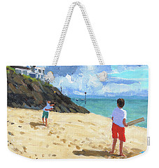 Bowling And Batting, Abersoch Weekender Tote Bag