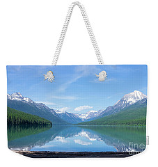 Bowman Lake Mt Weekender Tote Bag
