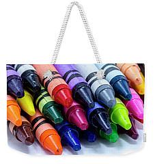 Box Of Colorful Crayons Weekender Tote Bag
