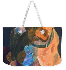 Weekender Tote Bag featuring the painting Boxer by Donald J Ryker III