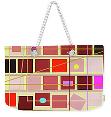 Boxes And Lines Weekender Tote Bag by Mary Bedy