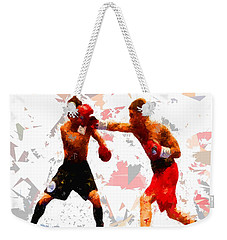 Weekender Tote Bag featuring the painting Boxing 113 by Movie Poster Prints