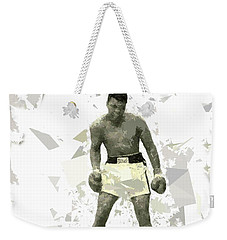 Weekender Tote Bag featuring the painting Boxing 115 by Movie Poster Prints