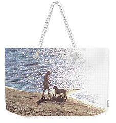 Boy And Dog Weekender Tote Bag by Felipe Adan Lerma