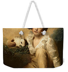 Boy And Rabbit Weekender Tote Bag by Sir Henry Raeburn