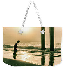 Weekender Tote Bag featuring the photograph Boy At Sunrise In Alabama  by John McGraw