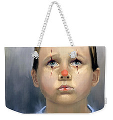 Boy Clown Weekender Tote Bag by Angela Murdock