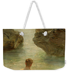 Weekender Tote Bag featuring the painting Boy On A Beach, 1901 by Henry Scott Tuke