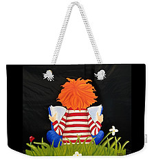 Boy Reading Book Weekender Tote Bag by Brenda Bonfield