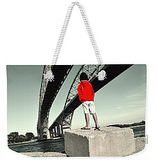 Boy Under Bridge Weekender Tote Bag