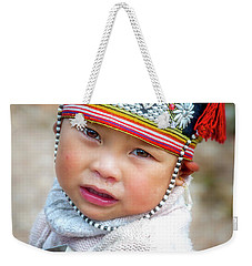 Boy With A Red Cap. Weekender Tote Bag