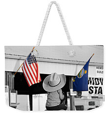 Boy With Two Flags Weekender Tote Bag