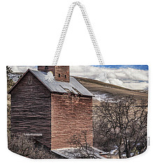 Weekender Tote Bag featuring the photograph Boyd Flour Mill by Cat Connor