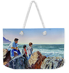 Boys And The Ocean Weekender Tote Bag