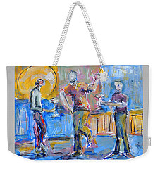 Boys Night Out Weekender Tote Bag