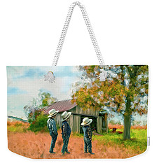 Boys On The Farm Weekender Tote Bag by Mary Timman