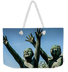 Weekender Tote Bag featuring the photograph Boys Rejoice by KG Thienemann