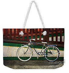 Weekender Tote Bag featuring the photograph Bozeman Antique Bicycle by Craig J Satterlee