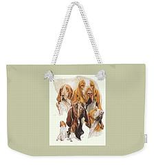 Bracco Italiano W/ghost Weekender Tote Bag