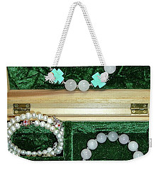 Weekender Tote Bag featuring the jewelry Bracelets Of Faith by Michele Myers