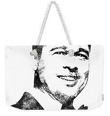 Brad Pitt Bw Portrait Weekender Tote Bag by Mihaela Pater