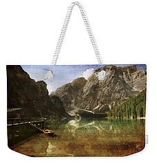 Braies Lake Weekender Tote Bag