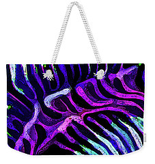 Brain Coral Abstract 3 In Purple Weekender Tote Bag