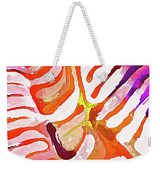Brain Coral Abstract 6 In Orange Weekender Tote Bag