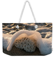 Coral Foamy Splash Delray Beach Florida Weekender Tote Bag