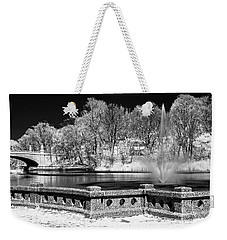 Weekender Tote Bag featuring the photograph Branch Brook Park New Jersey Ir by Susan Candelario